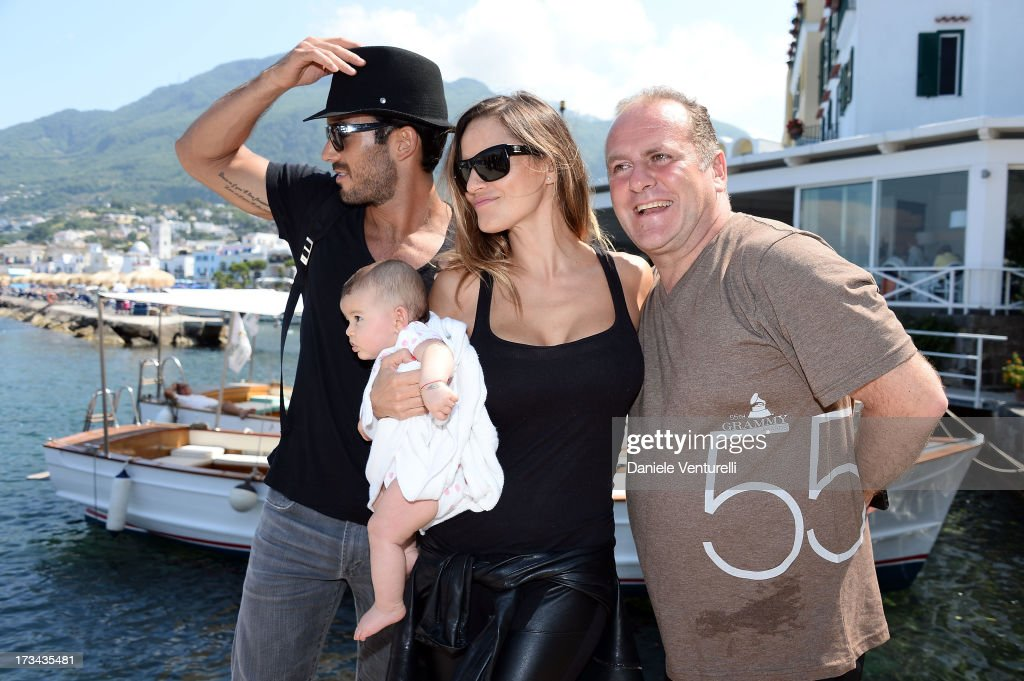Singer Lola Ponce, Aaron Diaz, Erin Diaz and Pascal Vicedomini arrive at Ischia Global Fest 2013 on July 14, 2013 in Ischia, Italy.