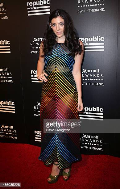 Singer Lorde attends Republic Records private postVMA celebration at Ysabel on August 30 2015 in West Hollywood California