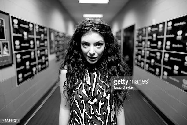 Singer Lorde attends the 2014 iHeartRadio Music Festival at the MGM Grand Garden Arena on September 20 2014 in Las Vegas Nevada