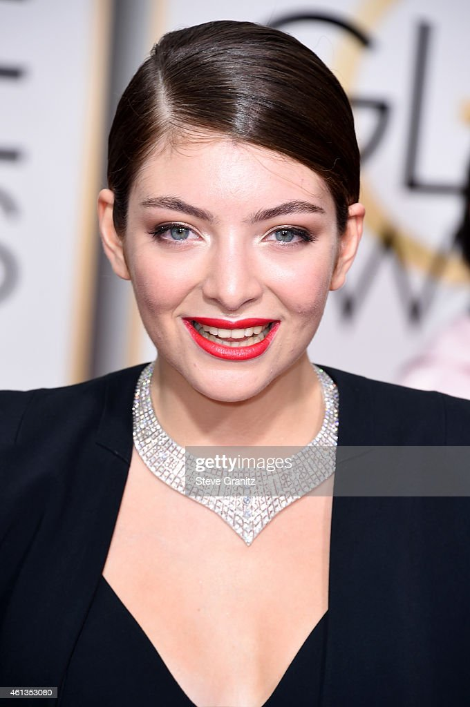 Singer <a gi-track='captionPersonalityLinkClicked' href=/galleries/search?phrase=Lorde&family=editorial&specificpeople=3209104 ng-click='$event.stopPropagation()'>Lorde</a> attends the 72nd Annual Golden Globe Awards at The Beverly Hilton Hotel on January 11, 2015 in Beverly Hills, California.