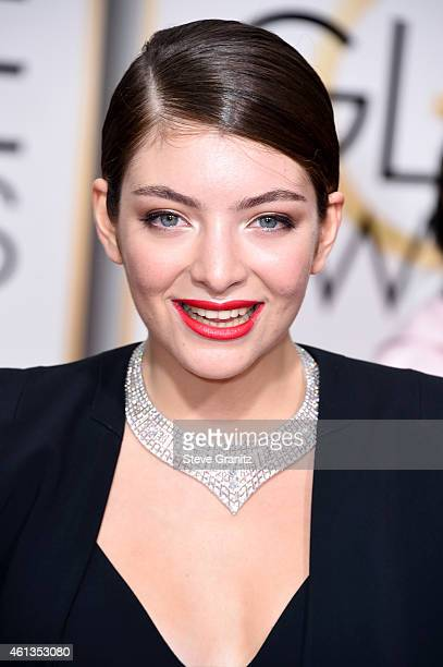Singer Lorde attends the 72nd Annual Golden Globe Awards at The Beverly Hilton Hotel on January 11 2015 in Beverly Hills California