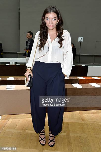 Singer Lorde attends the Chloe show as part of the Paris Fashion Week Womenswear Fall/Winter 2015/2016 on March 8 2015 in Paris France
