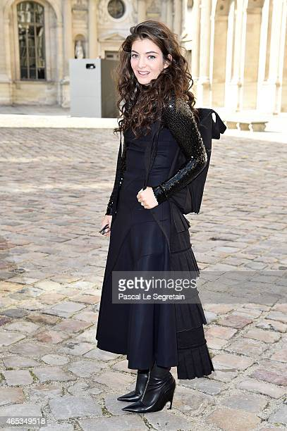 Singer Lorde attends the Christian Dior show as part of the Paris Fashion Week Womenswear Fall/Winter 2015/2016 on March 6 2015 in Paris France