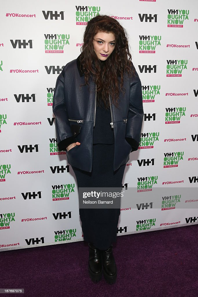 Singer Lorde attends VH1 'You Oughta Know In Concert' 2013 on November 11, 2013 at Roseland Ballroom in New York City.