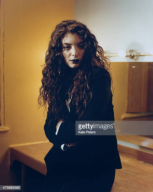 Singer Lorde is photographed for the Guardian on June 13 2014 in London England