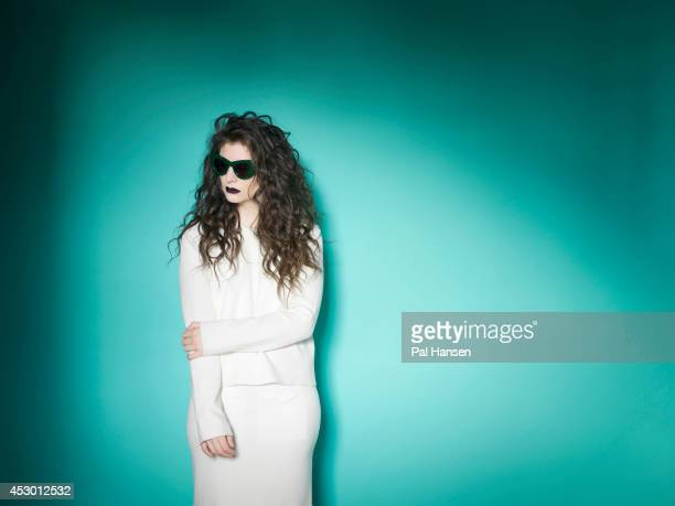 Singer Lorde is photographed for the Sunday Times magazine on April 22 2014 in London England