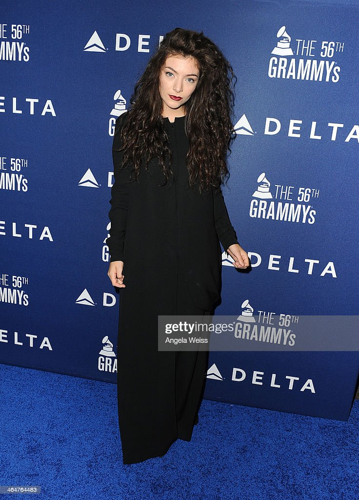 Singer <a gi-track='captionPersonalityLinkClicked' href=/galleries/search?phrase=Lorde&family=editorial&specificpeople=3209104 ng-click='$event.stopPropagation()'>Lorde</a> joins Delta Air Lines in toasting 2014 GRAMMY Weekend with private reception and performance from <a gi-track='captionPersonalityLinkClicked' href=/galleries/search?phrase=Lorde&family=editorial&specificpeople=3209104 ng-click='$event.stopPropagation()'>Lorde</a>, four-time 2014 GRAMMY award nominee in West Hollywood, CA on January 23rd 2014