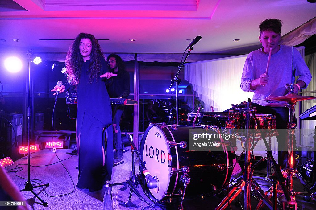 Singer <a gi-track='captionPersonalityLinkClicked' href=/galleries/search?phrase=Lorde&family=editorial&specificpeople=3209104 ng-click='$event.stopPropagation()'>Lorde</a> perfoms during Delta Air Lines toast 2014 GRAMMY Weekend with private reception and performance from <a gi-track='captionPersonalityLinkClicked' href=/galleries/search?phrase=Lorde&family=editorial&specificpeople=3209104 ng-click='$event.stopPropagation()'>Lorde</a>, four-time 2014 GRAMMY award nominee in West Hollywood, CA on January 23rd 2014