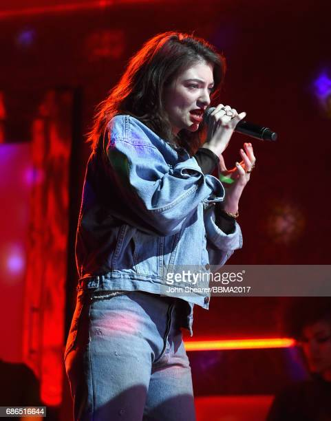Singer Lorde performs onstage during the 2017 Billboard Music Awards at TMobile Arena on May 21 2017 in Las Vegas Nevada