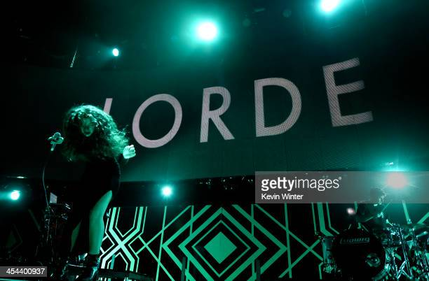 Singer Lorde performs onstage during The 24th Annual KROQ Almost Acoustic Christmas at The Shrine Auditorium on December 8 2013 in Los Angeles...