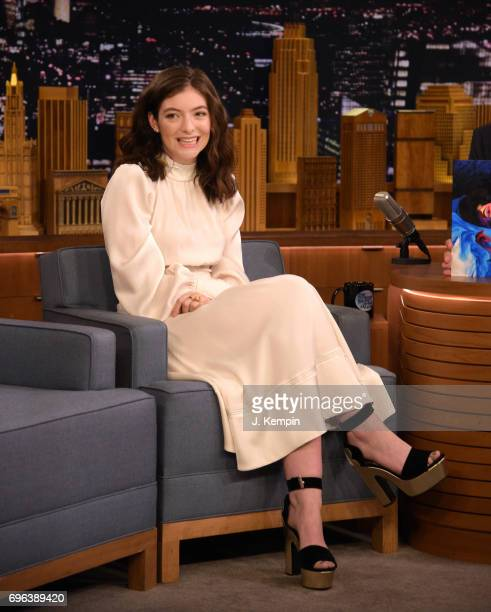 Singer Lorde visits 'The Tonight Show Starring Jimmy Fallon' at Rockefeller Center on June 15 2017 in New York City