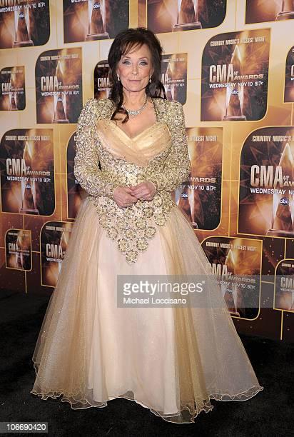 Singer Loretta Lynn attends the 44th Annual CMA Awards at the Bridgestone Arena on November 10 2010 in Nashville Tennessee