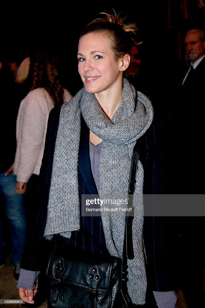 Singer Lorie attending Celine Dion's Concert at Palais Omnisports de Bercy on December 5, 2013 in Paris, France.
