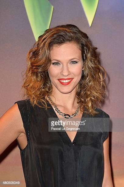 Singer Lorie attends 'Clochette et la Fee Pirate' Premiere at Gaumont Champs Elysees on March 25 2014 in Paris France