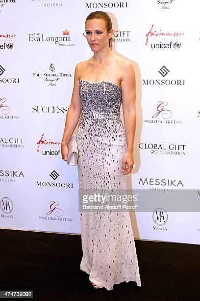 Singer Lorie attends the Global Gift Gala Photocall Held at Four Seasons Hotel George V on May 25 2015 in Paris France
