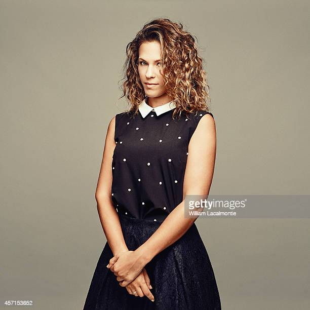 Singer Lorie is photographed for Le Film Francais in Deauville France