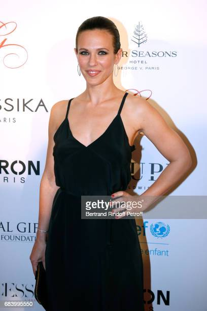 Singer Lorie Pester attends the 'Global Gift the Eva Foundation' Gala Photocall at Hotel George V on May 16 2017 in Paris France