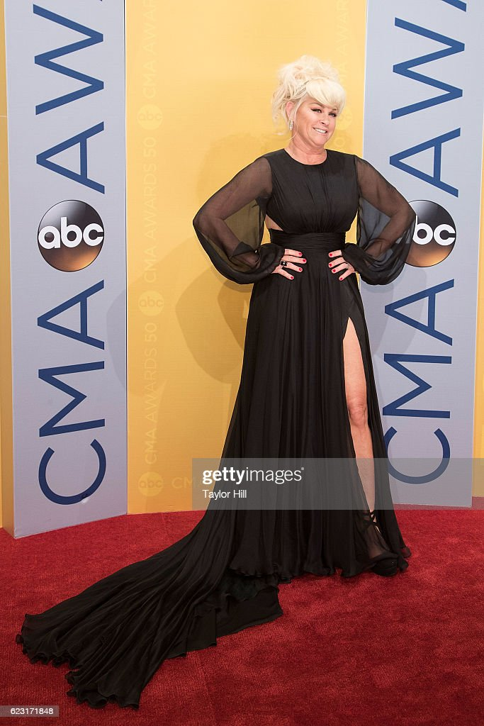 Singer Lorrie Morgan attends the 50th annual CMA Awards at the Bridgestone Arena on November 2, 2016 in Nashville, Tennessee.
