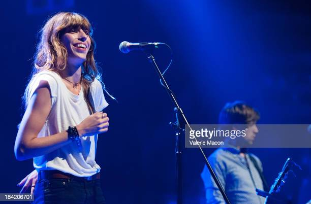 Singer Lou Doillon performs at OohLaLA California's Exclusive French Music Festival at El Rey Theatre on October 11 2013 in Los Angeles California