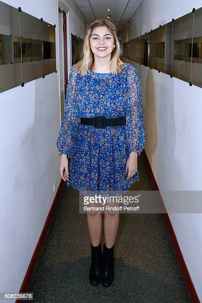 Singer Louane Emera attends the 'Vivement Dimanche' French TV Show at Pavillon Gabriel on February 3 2016 in Paris France