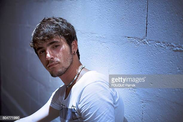 Singer Louis Delort poses in Paris on July 24 2012