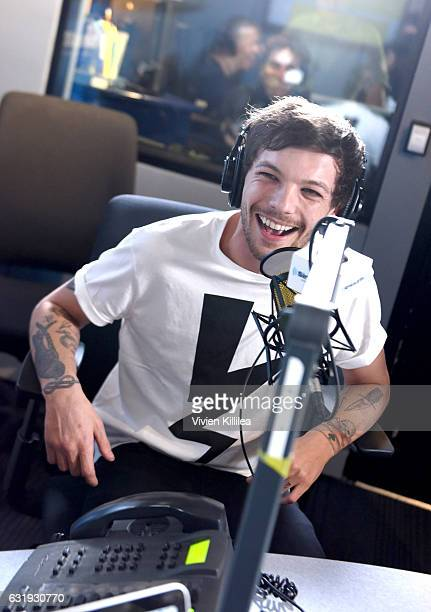 Singer Louis Tomlinson visits the Launch of 'Hits 1 in Hollywood' on SiriusXM Hits 1 at the SiriusXM Los Angeles Studios on January 17 2017 in Los...