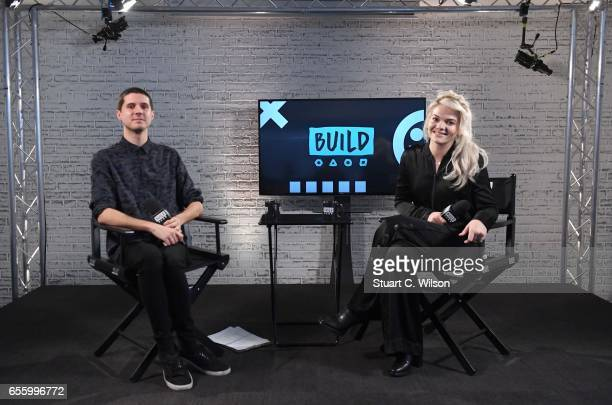 Singer Louisa Johnson joins BUILD for a live interview at their London studio at AOL on March 21 2017 in London United Kingdom