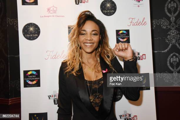 Singer Louisy Joseph attends the 'Souffle de Violette' Auction Party As part of 'Octobre Rose' Hosted by Ereel at Fidele Club on October 16 2017 in...
