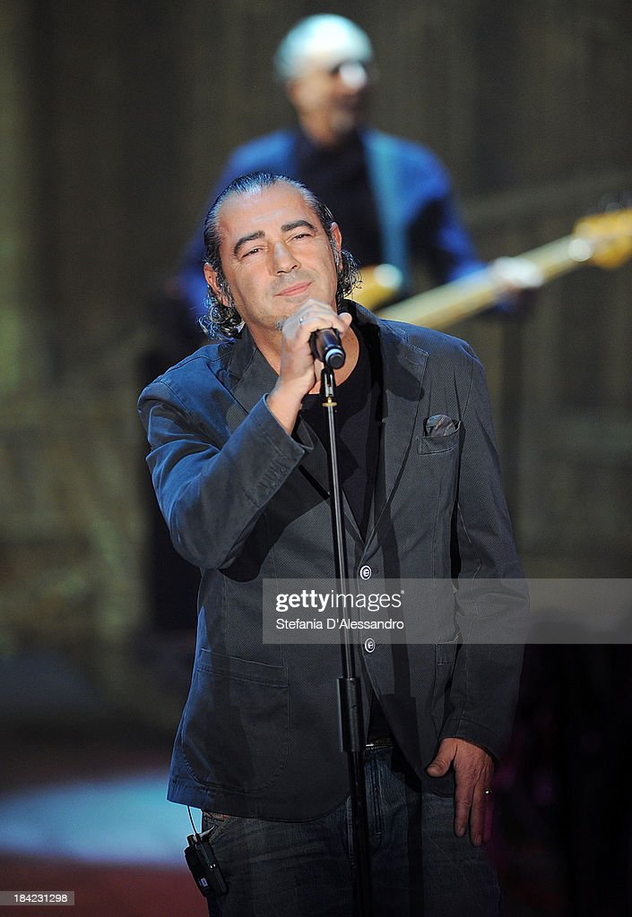 Singer Luca Carboni attends 'Che Tempo Che Fa' TV Show on October 12, 2013 in Milan, Italy.