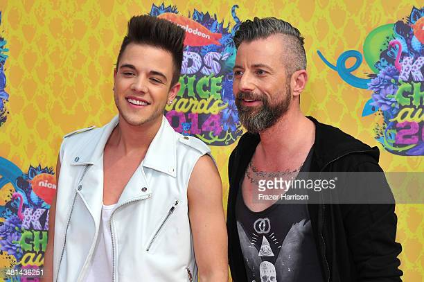 Singer Luca Hanni and guest attend Nickelodeon's 27th Annual Kids' Choice Awards held at USC Galen Center on March 29 2014 in Los Angeles California