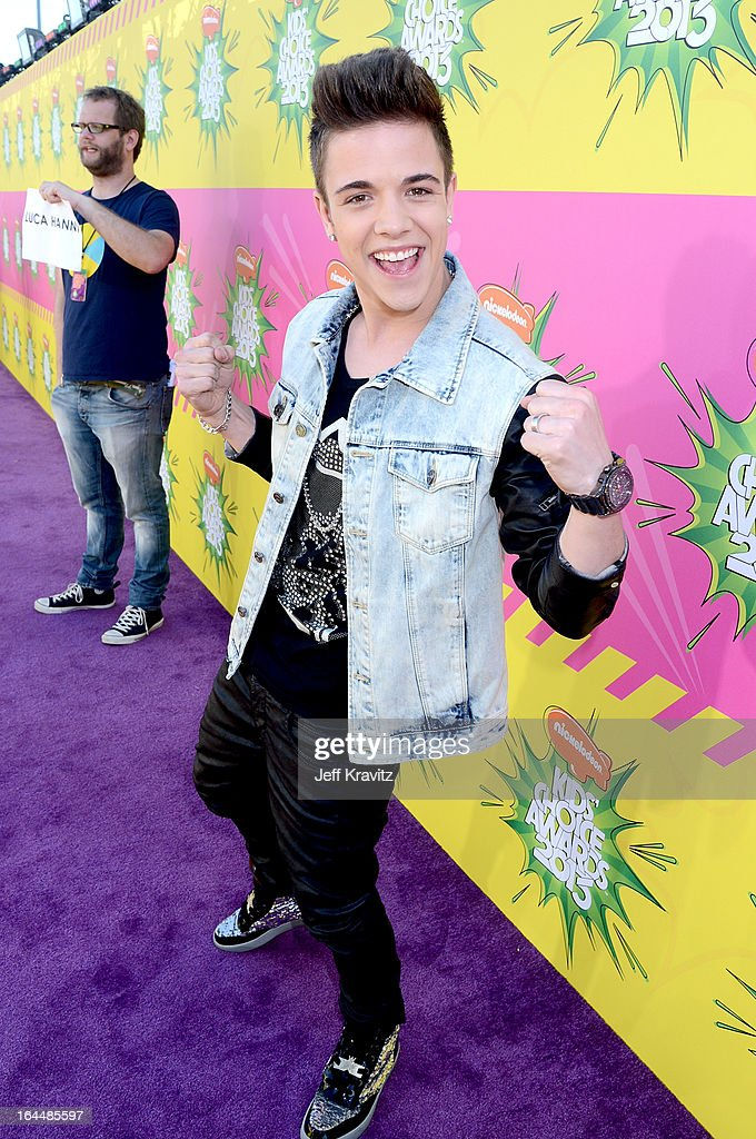 Singer Luca Hanni arrives at Nickelodeon's 26th Annual Kids' Choice Awards at USC Galen Center on March 23, 2013 in Los Angeles, California.