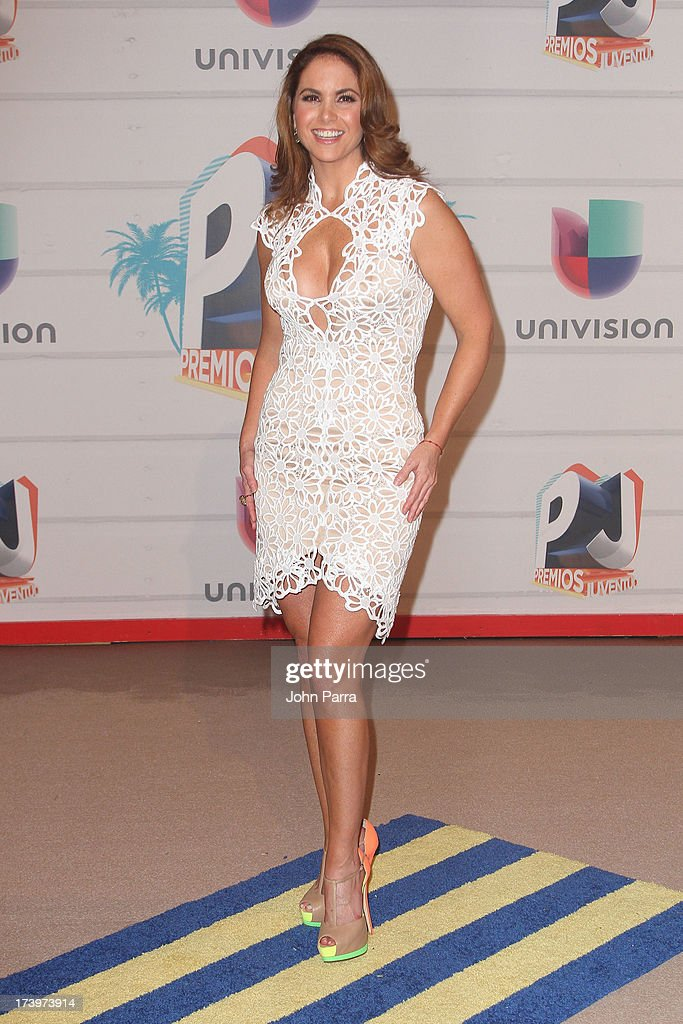 Singer Lucero attends the Premios Juventud 2013 at Bank United Center on July 18, 2013 in Miami, Florida.