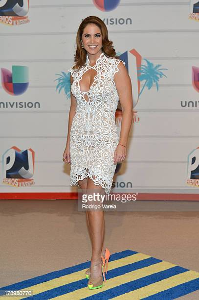 Singer Lucero attends the Premios Juventud 2013 at Bank United Center on July 18 2013 in Miami Florida