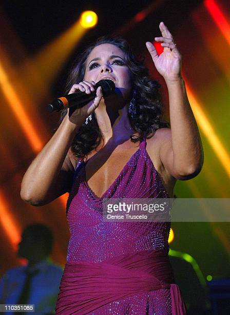 Singer Lucero on stage at the 8th Annual Latin GRAMMY Awards Person of the Year celebration at Mandalay Bay on November 7 2007 in Las Vegas Nevada