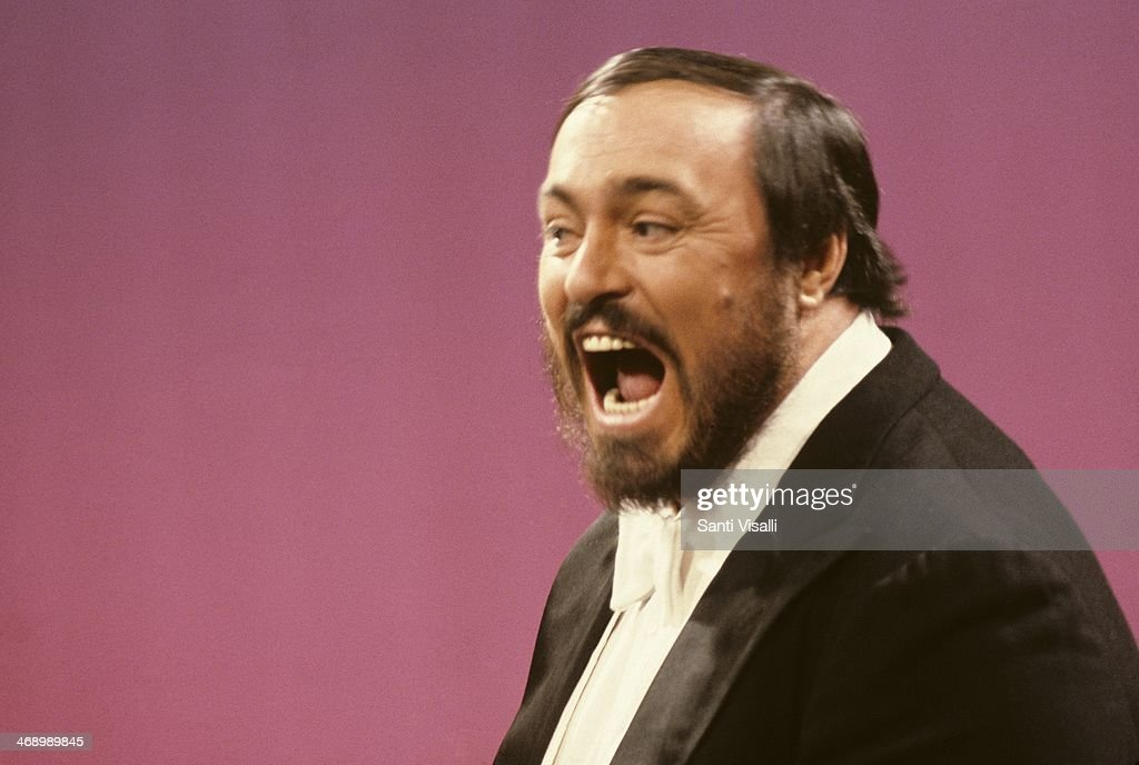 Singer <a gi-track='captionPersonalityLinkClicked' href=/galleries/search?phrase=Luciano+Pavarotti&family=editorial&specificpeople=204196 ng-click='$event.stopPropagation()'>Luciano Pavarotti</a> on TV on November 3, 1980 in New York, New York.