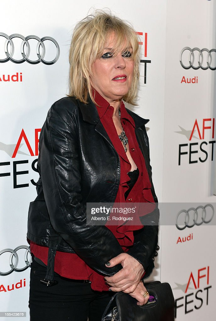 Singer Lucinda Williams arrives at the 'On The Road' premiere during the 2012 AFI Fest presented by Audi at Grauman's Chinese Theatre on November 3, 2012 in Hollywood, California.