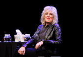 Singer Lucinda Williams speaks at Coversations with Music at The New Yorker Festival at Acura at SIR Stage37 on October 6 2012 in New York City