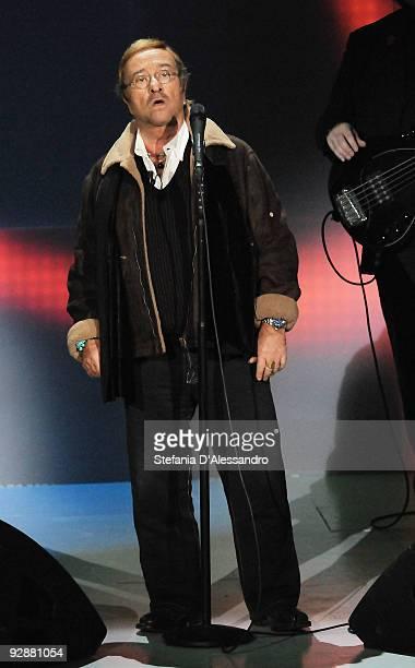 Singer Lucio Dalla performs live during 'Che Tempo Che Fa' italian Tv Show held at Rai Studios on November 7 2009 in Milan Italy