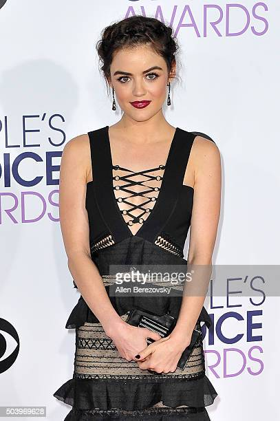 Singer Lucy Hale arrives at the People's Choice Awards 2016 at Microsoft Theater on January 6 2016 in Los Angeles California
