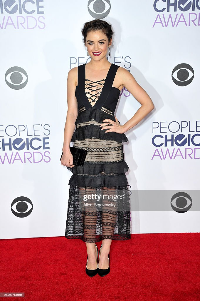 Singer Lucy Hale arrives at the People's Choice Awards 2016 at Microsoft Theater on January 6, 2016 in Los Angeles, California.