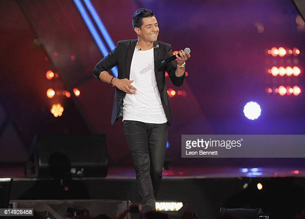 Singer Luis Coronel performs onstage at Univision and Fusion host RiseUp AS ONE at Cross Border Xpress on October 15 2016 in San Diego California