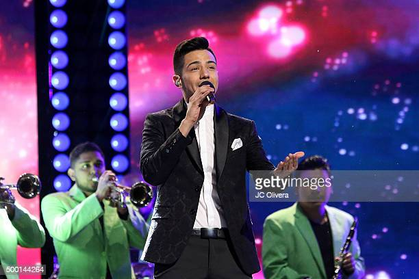 Singer Luis Coronel performs onstage during The 4th Annual TeletonUSA at Ace Theater Downtown LA on December 5 2015 in Los Angeles California