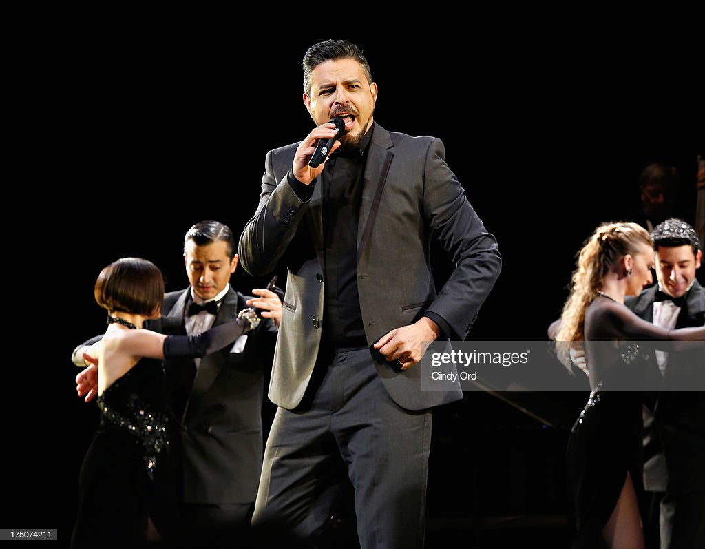 Singer Luis Enrique takes part in the 'Forever Tango' Curtain Call at Walter Kerr Theatre on July 30, 2013 in New York City.