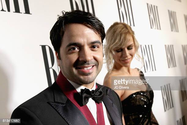 Singer Luis Fonsi and Agueda Lopez attend the 2016 BMI Latin Awards on March 2 2016 in Beverly Hills California