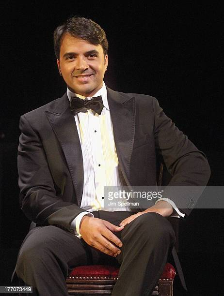 Singer Luis Fonsi greets the press before joining the cast of Broadway's 'Forever Tango' at Walter Kerr Theatre on August 20 2013 in New York City