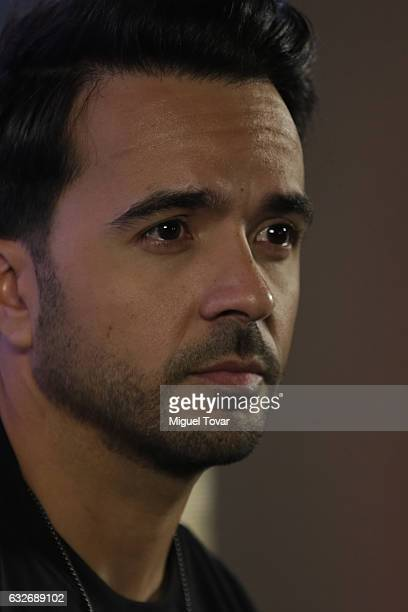 Singer Luis Fonsi looks on during a press conference to promote his new single 'Despacito' featurin Daddy Yankee in Mexico City at Universal Music on...