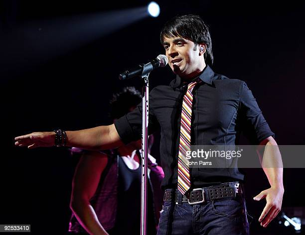 Singer Luis Fonsi performs at James L Knight Center on August 22 2009 in Miami Florida