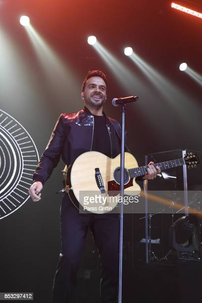 Singer Luis Fonsi performs in concert during Love Dance World Tour at Coca Cola Roxy on September 24 2017 in Atlanta Georgia