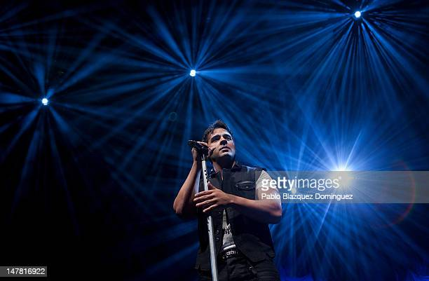 Singer Luis Fonsi performs live in concert at Circo Price Theatre on July 3 2012 in Madrid Spain