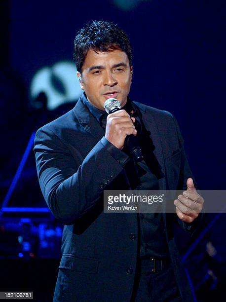 Singer Luis Fonsi performs onstage at the 2012 NCLR ALMA Awards at Pasadena Civic Auditorium on September 16 2012 in Pasadena California